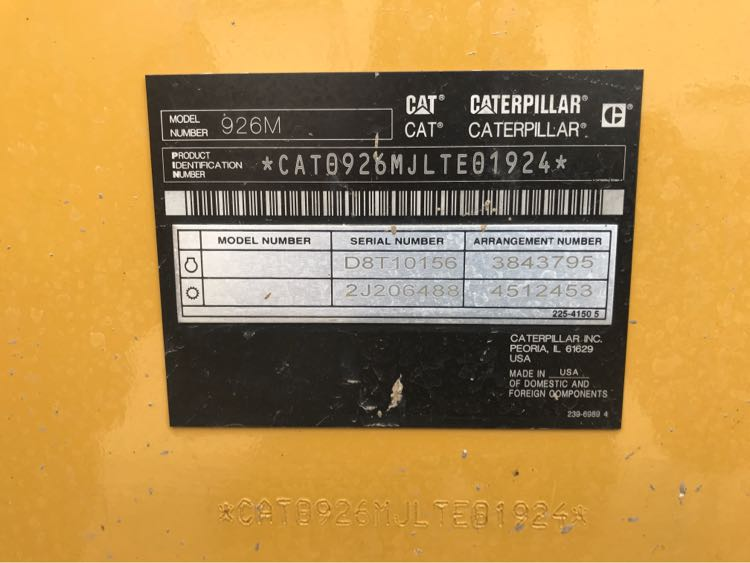 2016 Caterpillar 926M Image 16